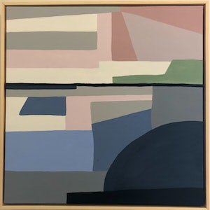 (CreativeWork) THAT PINK SKY - FRAMED Abstract  by Kerry Leigh. #<Filter:0x00007fd660184258>. Shop online at Bluethumb.