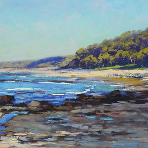 (CreativeWork) Culburra Beach, NSW by Graham Gercken. oil-painting. Shop online at Bluethumb.