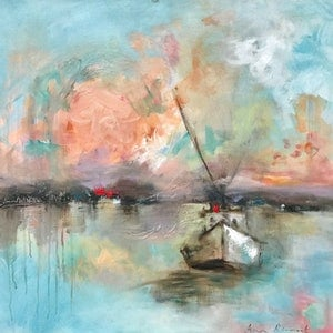 (CreativeWork) Mariner's Tale by Ann Rayment. arcylic-painting. Shop online at Bluethumb.