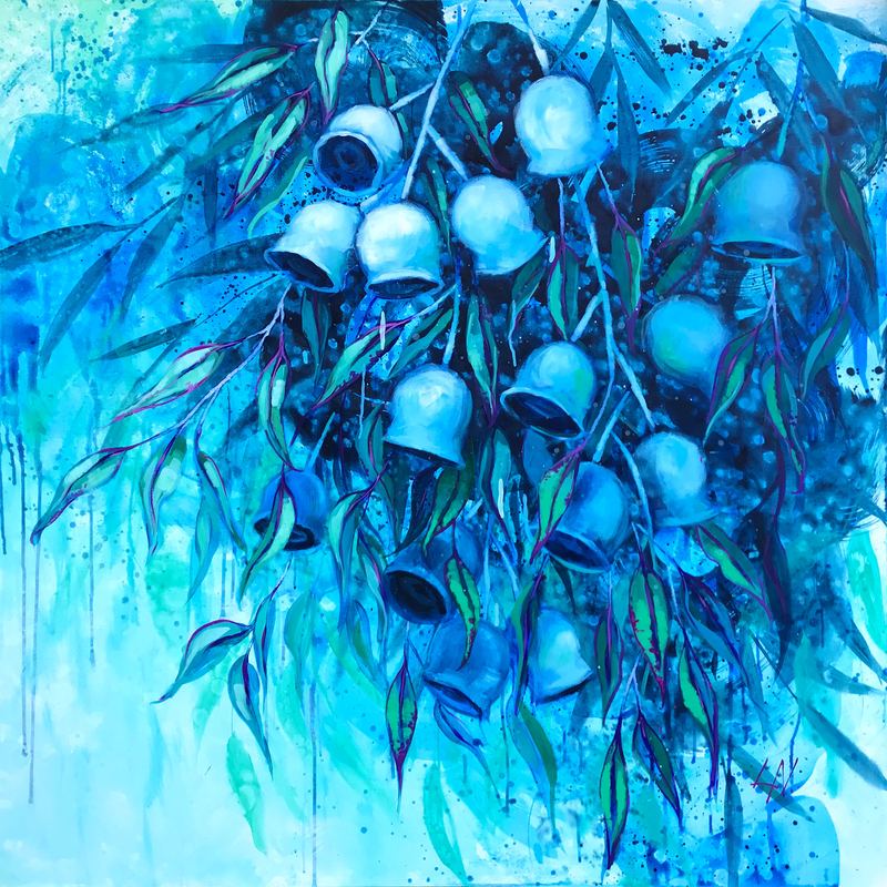 (CreativeWork) Lullaby Of The Moon by Lily Nova. acrylic-painting. Shop online at Bluethumb.