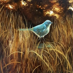 (CreativeWork) A New Dawn by Llael McDonald. oil-painting. Shop online at Bluethumb.