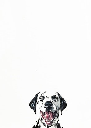 (CreativeWork) Good Boy by Donna Christie. Acrylic Paint. Shop online at Bluethumb.