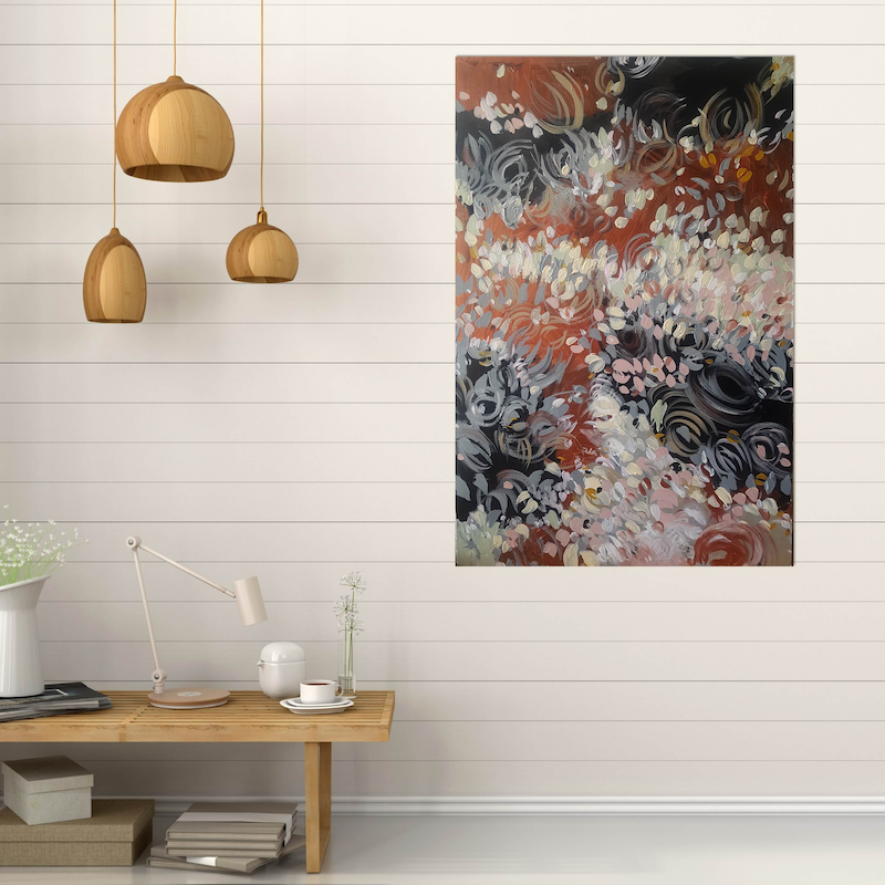 (CreativeWork) Protea Baby by Andrea Edwards. arcylic-painting. Shop online at Bluethumb.