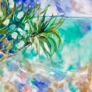 (CreativeWork) Pandanus point  by Amanda Brooks. arcylic-painting. Shop online at Bluethumb.