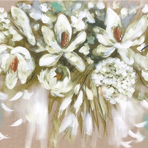 (CreativeWork) Spring blooms  by Amanda Brooks. arcylic-painting. Shop online at Bluethumb.