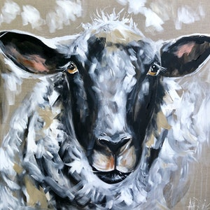 (CreativeWork) Have ewe any wool  by Amanda Brooks. arcylic-painting. Shop online at Bluethumb.