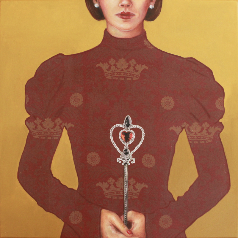 (CreativeWork) Queen of Hearts by Leah Mariani. oil-painting. Shop online at Bluethumb.