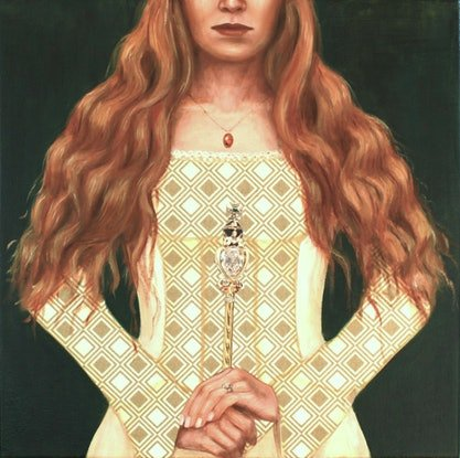 (CreativeWork) White Queen by Leah Mariani. Oil Paint. Shop online at Bluethumb.