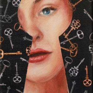 (CreativeWork) Locked Out by Leah Mariani. oil-painting. Shop online at Bluethumb.