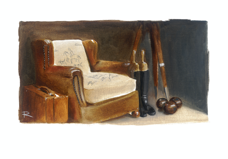 (CreativeWork) THE CHAIR IN BEADLES' WINDOW by Rosa Fedele. Print. Shop online at Bluethumb.