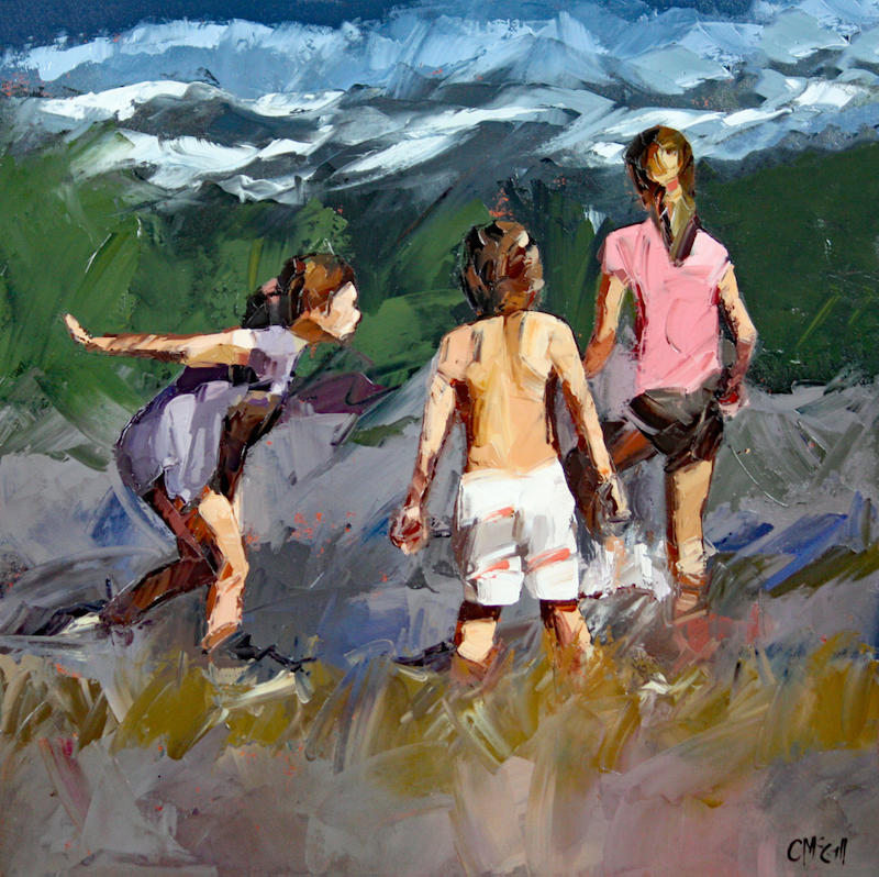 (CreativeWork) Braving The Waves X by Claire McCall. oil-painting. Shop online at Bluethumb.