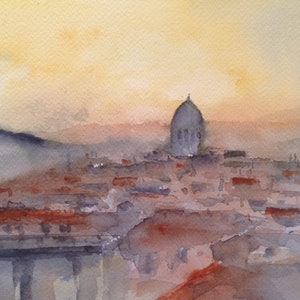 (CreativeWork) Sorry, no Duomo by Bernd Rieve. watercolour. Shop online at Bluethumb.
