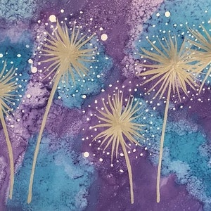 (CreativeWork) Wishes - contemporary art painting by Debra Ryan. mixed-media. Shop online at Bluethumb.