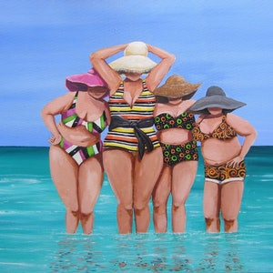 (CreativeWork) Licorice Allsorts Ladies by Andrea Berry. arcylic-painting. Shop online at Bluethumb.