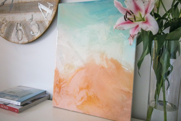 (CreativeWork) Summers by Stephanie Lisa. Resin. Shop online at Bluethumb.