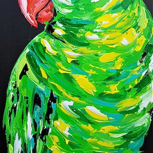 (CreativeWork) Scaly-Breasted Lorikeet  by Lisa Fahey. arcylic-painting. Shop online at Bluethumb.