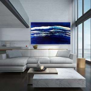 (CreativeWork) Atlantic Spray by Martine Vanderspuy. resin. Shop online at Bluethumb.