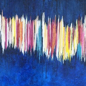 (CreativeWork) Echolalia by Melanie Crawford. arcylic-painting. Shop online at Bluethumb.