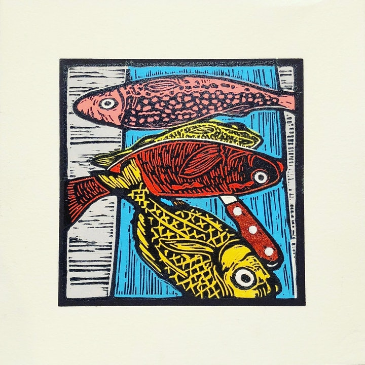 (CreativeWork) Fish Stall - Oaxaca Markets Ed. 1 of 5 by Marty Cielens. print. Shop online at Bluethumb.