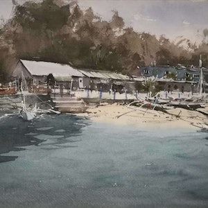(CreativeWork) Phuket by jianqiang xu. watercolour. Shop online at Bluethumb.