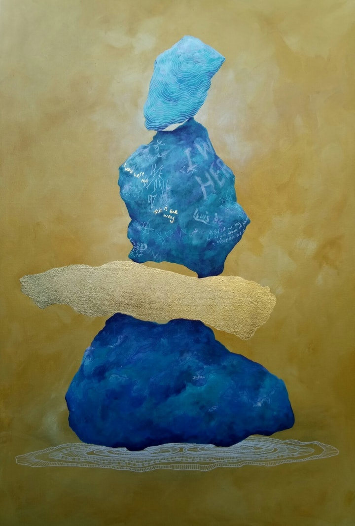 (CreativeWork) The Right Path by Donna Gordge. arcylic-painting. Shop online at Bluethumb.