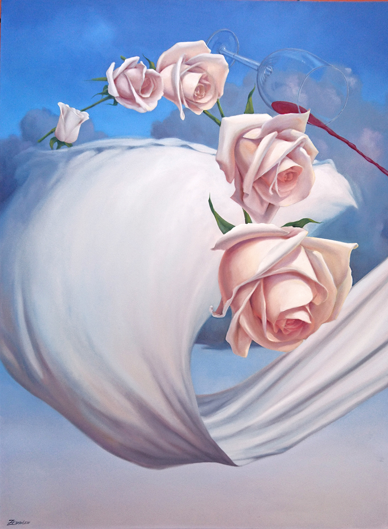 (CreativeWork) Your Love Saved Me by Zelman Lew. Oil Paint. Shop online at Bluethumb.