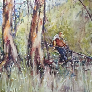 (CreativeWork) Flinders by Pam Fox. watercolour. Shop online at Bluethumb.