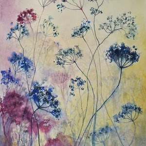(CreativeWork) Blue Lace by Lucinda Leveille. watercolour. Shop online at Bluethumb.