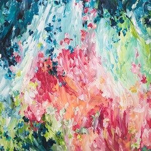 (CreativeWork) Day Dreamer by Amber Gittins. arcylic-painting. Shop online at Bluethumb.