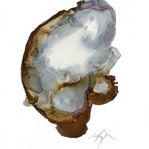 (CreativeWork) Fossil by Emme Bergman. mixed-media. Shop online at Bluethumb.