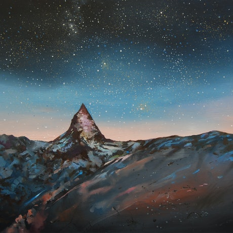 (CreativeWork) mystery mountain by Trevor Salisbury. Oil Paint. Shop online at Bluethumb.