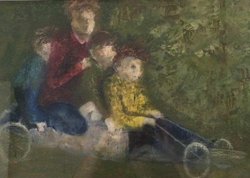 Billy cart Kids by christine forbes. Paintings for Sale. Bluethumb ...