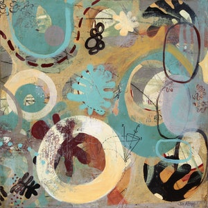 (CreativeWork) Brimming by Jan Allsopp. mixed-media. Shop online at Bluethumb.