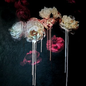 (CreativeWork) Peonies and Roses 2018 by Stephen McKenzie. oil-painting. Shop online at Bluethumb.