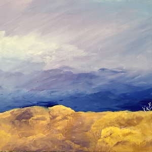 (CreativeWork) The Lookout by Karen Pillay. arcylic-painting. Shop online at Bluethumb.