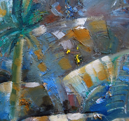 (CreativeWork) the sun always shines in the whitsundays by Trevor Salisbury. Oil Paint. Shop online at Bluethumb.
