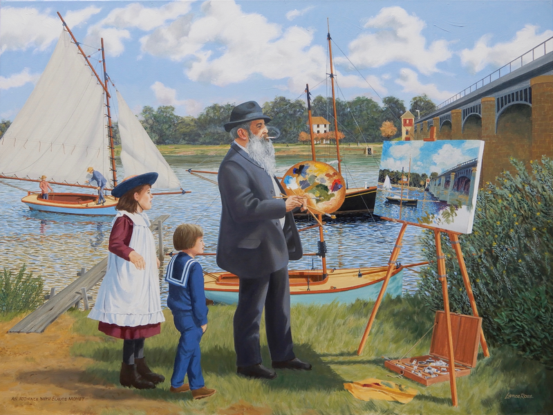 (CreativeWork) An audience with Claude Monet by Lance Ross. Oil Paint. Shop online at Bluethumb.
