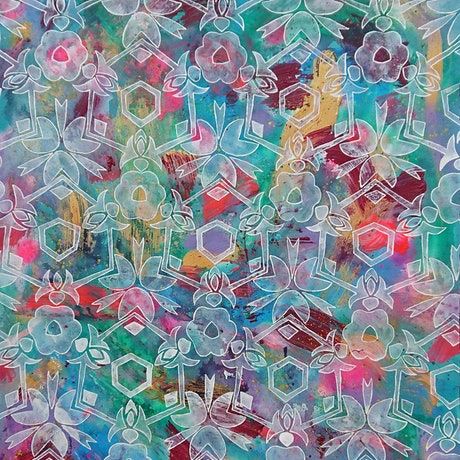 (CreativeWork) Field of flowers by Sami Sparrow. Mixed Media. Shop online at Bluethumb.