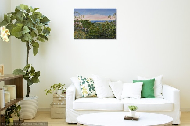 (CreativeWork) Narrow Neck Plateau, Katoomba  by Monika Scheffler. Oil Paint. Shop online at Bluethumb.