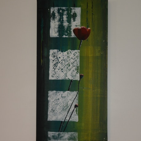 (CreativeWork) Struggling to bloom... by Dinu Senaratne. Acrylic Paint. Shop online at Bluethumb.