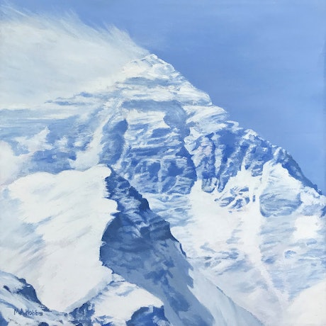 (CreativeWork) Mt Everest by M.A. Hobbs. Oil Paint. Shop online at Bluethumb.