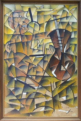 (CreativeWork) The Mad Violinist by Meled Taouk. Acrylic. Shop online at Bluethumb.