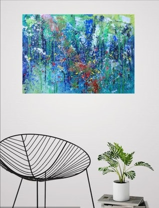 (CreativeWork) Nature is my secret place  by Nina Bach. #<Filter:0x000055ba649329b0>. Shop online at Bluethumb.