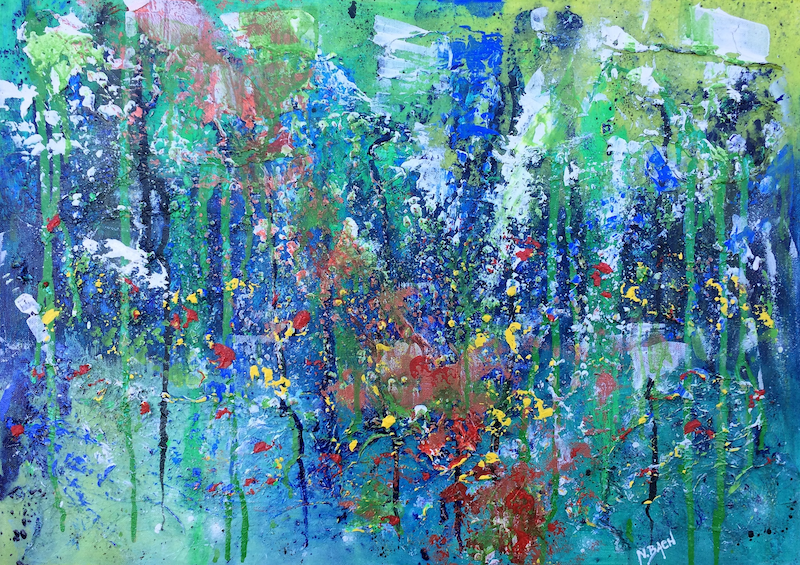 (CreativeWork) Nature is my secret place  by Nina Bach. mixed-media. Shop online at Bluethumb.