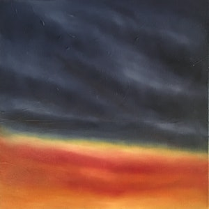 (CreativeWork) Winter Sunrise 5 by Kitty Berton. oil-painting. Shop online at Bluethumb.