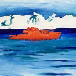 (CreativeWork) icebreaker by Wendy Black. oil-painting. Shop online at Bluethumb.