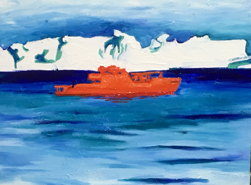 (CreativeWork) icebreaker by Wendy Black. Oil Paint. Shop online at Bluethumb.
