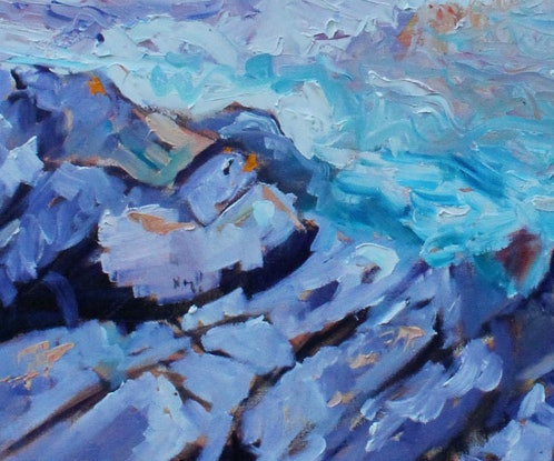 (CreativeWork) RAPID BAY,  SOUTH AUSTRALIA by Maureen Finck. Oil Paint. Shop online at Bluethumb.