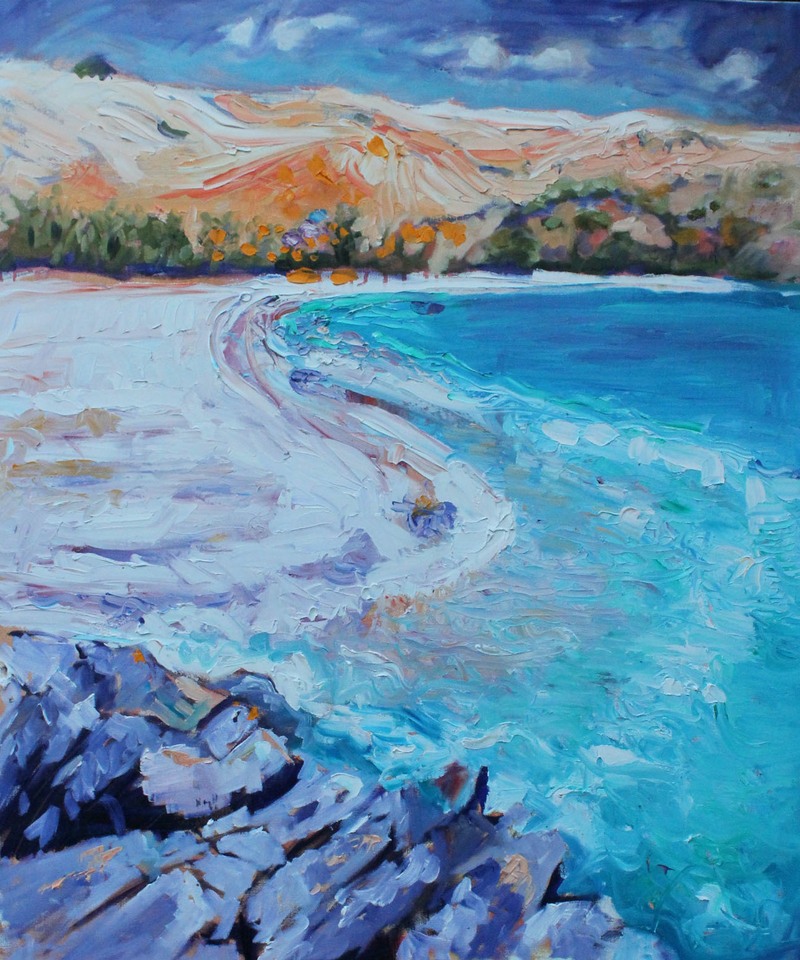 (CreativeWork) RAPID BAY,  SOUTH AUSTRALIA by Maureen Finck. oil-painting. Shop online at Bluethumb.