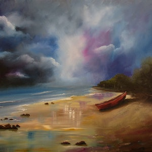(CreativeWork) Abandoned, 90 mile beach by Debra Dickson. oil-painting. Shop online at Bluethumb.